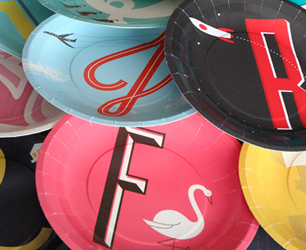 colourful paper plates from ROCKETT ST GEORGE