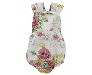 baby rompers for summer with floral print