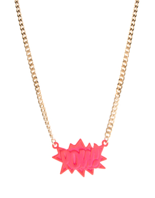 POW Pendant Necklace