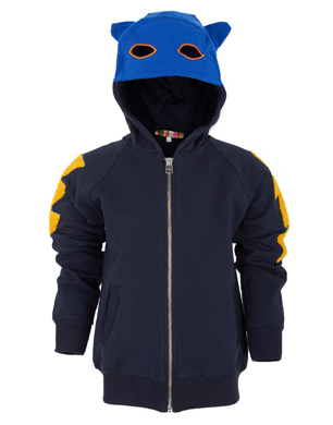 Annie Kurris Navy Super Hero Hooded Jumper