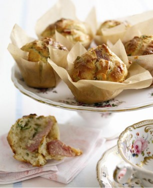 Bacon Onion And Basil Muffins