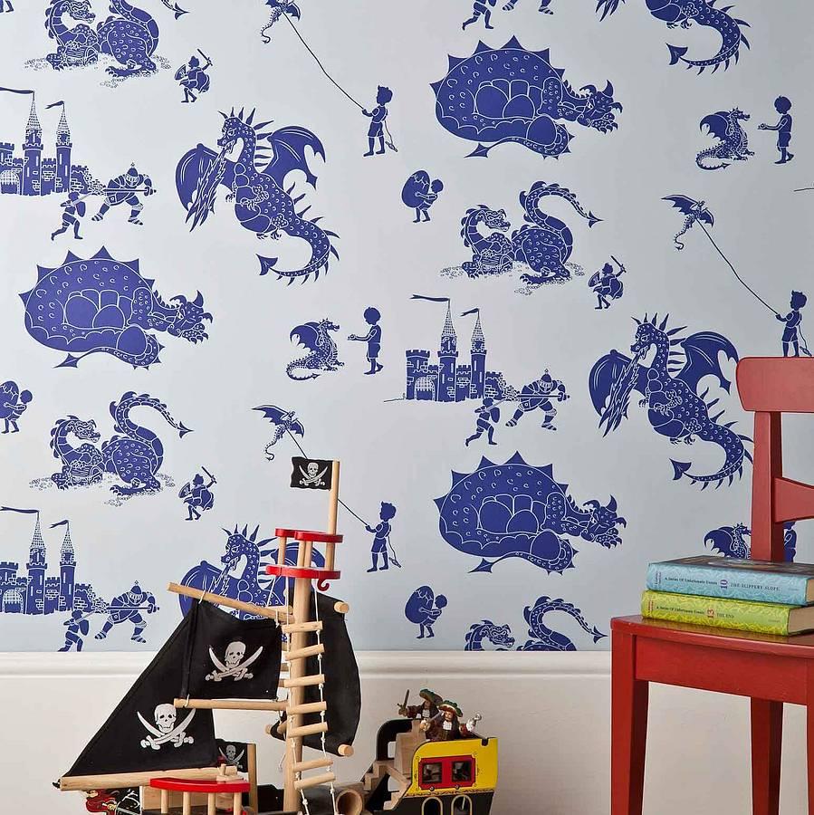 Paperboy Wallpaper Dragon Print