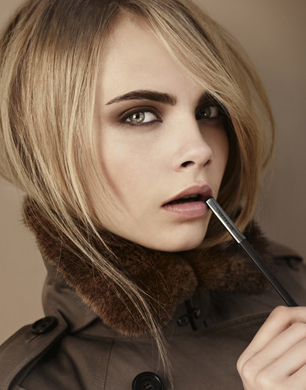 Burberry beauty autumn winter 2012 - the look (featuring cara delevingne)
