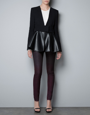 Black Jacket with Peplum