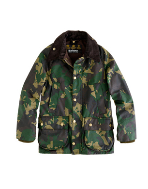 Boys Barbour Camouflage Bedale Jacket