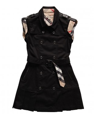 Burberry Black Military Trench Dress