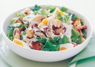 Chicken and mushroom caeser salad