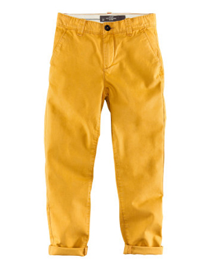 Boys Mustard Yellow Chinos