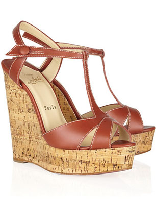Christian Louboutin Marina Liege 140 leather wedge sandals