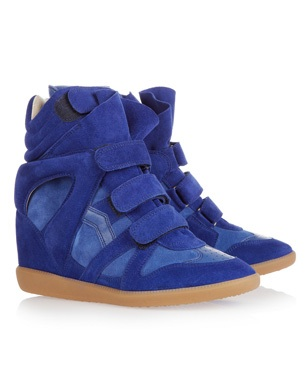 Isabel Marant Leather and Suede Sneakers