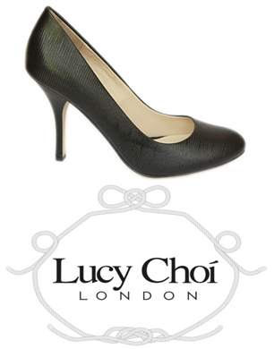 Lucy Choi Court shoes and logo