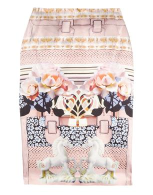 Mary Katrantzou Printed Silk Skirt