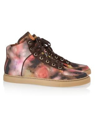 Mulberry Canvas Bloom Trainers