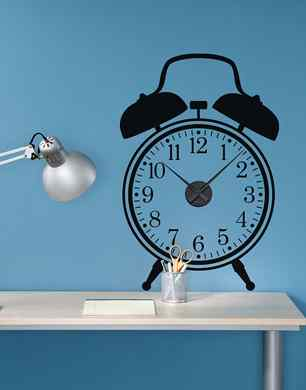 Spin Collective Working Alarm Clock Wall Sticker