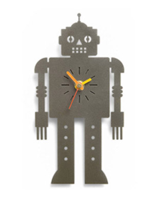 The Original Metal Box Company Robot Clock
