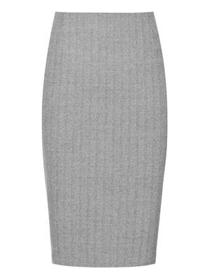 Gorgia Soft Grey Pencil Skirt