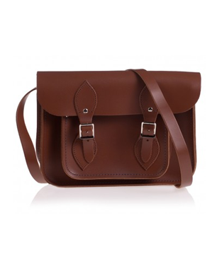 Tom Brown Leather Satchel Shoulder Bag