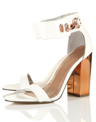 Reflect Metal Heel Sandals