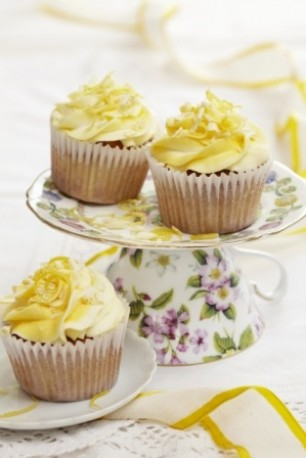 Lemon And White Choc Cupcakes