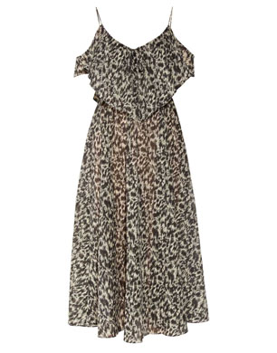Zimmerman Rebel Animal-Print Cotton Voile Dress
