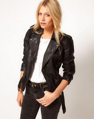 Motorcycle Leather Biker Jacket