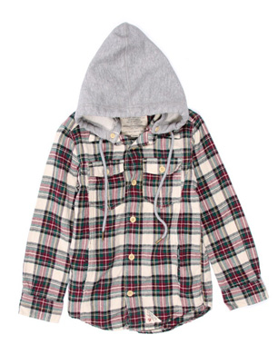 American Outfitters Hooded Checkered Shirt