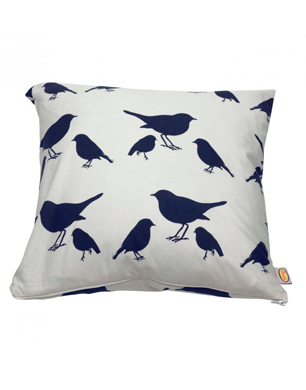 Kissing Robins Cotton Cushion