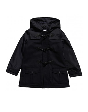 Armani Junior Boys Navy Blue Wool Blend Duffle Coat