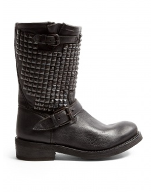 Ash Trash Studded High Biker Boots