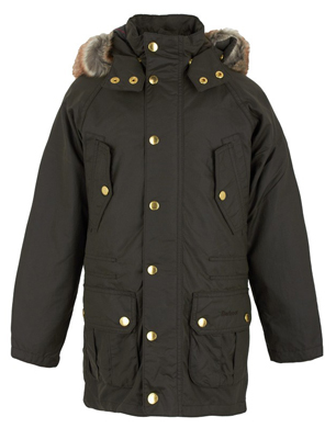Barbour Olive Hooded Parka