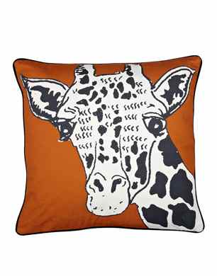 Borderline Giraffe Cushion