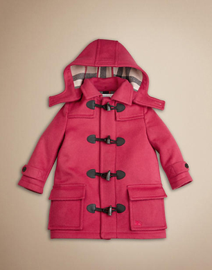 Pink Wool Duffle Coat
