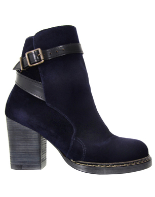 Purified Petra Navy Velvet Boots