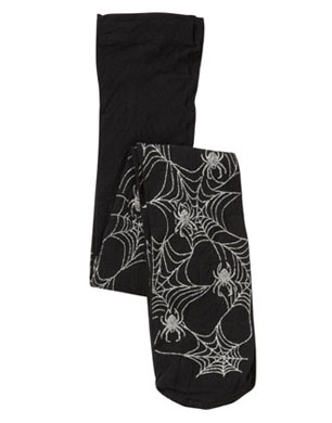 Halloween Cobweb Tights