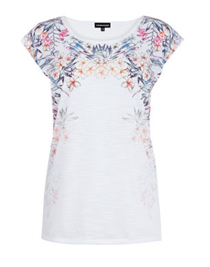 Fashion Targets Breast Cancer Floral Tee