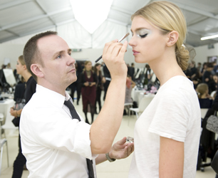 2013 Spring-Summer CHANEL Ready-to-Wear Show Backstage Makeup Peter Philips © CHANEL 2012  Photos Vincent Lappartient