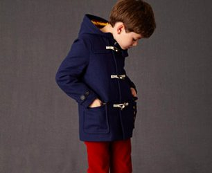 Girls Navy Blue Duffle Coat for Girl by