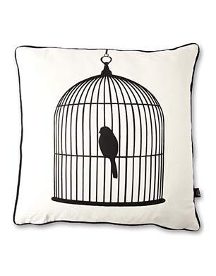 Ferm Living Birdcage Silk Cushion