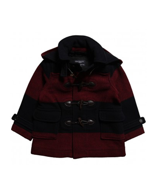 Hackett London Navy and Red Duffle Coat