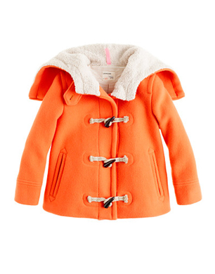 Girls Stadium-Cloth Toggle Coat