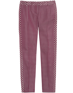 J.Crew Rummy Metallic Brocade Cropped Pants