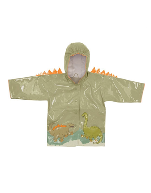 Child's Green Dinosaur Raincoat
