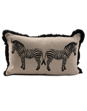 Kiss Her Zebra Crossing Cushion
