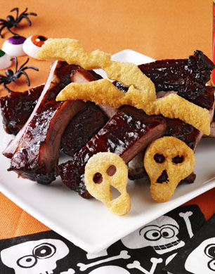 Witches Ribs With Vampire Toast