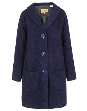 Levi's Made & Crafted Navy Swing Coat