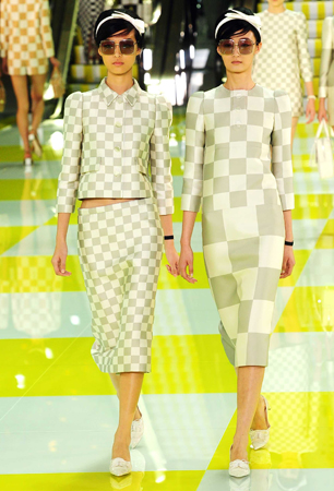 Louis Vuitton show, Spring Summer 2013, Paris Fashion Week, France models on catwalk