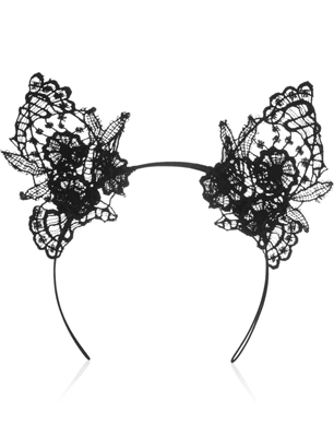 Mimi Holliday By Damaris Lace Cat Ear Headband