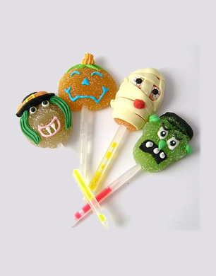 Halloween Jelly Lollies with Glow Sticks