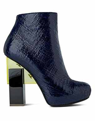 Nicholas Kirkwood for Erdem Grain Effect Ankle Boots