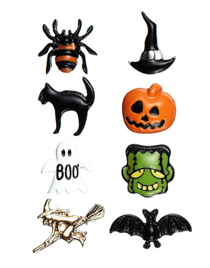 Pack of Eclectic Halloween Studs